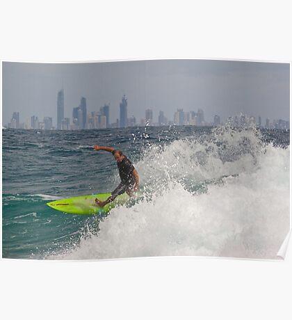 Surfer, Snapper Rocks #3 Poster
