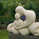 Mother and Child, garden sculpture, Flaxmere Garden, New Zealand by johnrf