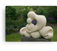 Mother and Child, garden sculpture, Flaxmere Garden, New Zealand Canvas Print