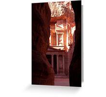 Khasneh - Petra, Jordan Greeting Card