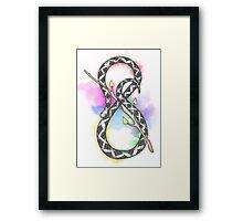 Infinity Snake w/ Blue + Purple Watercolours Framed Print