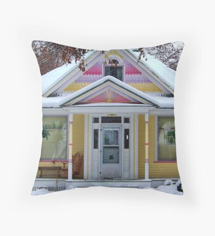 Christmas Gingerbread Throw Pillow