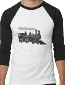 Steam Train (2) Men's Baseball ¾ T-Shirt