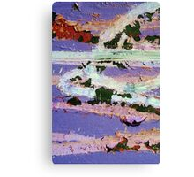 Peeling Purple Pleasure Canvas Print