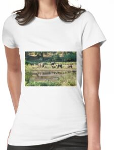 ELEPHANT REFLECTIONS - KRUGER NATIONAL PARK Womens Fitted T-Shirt