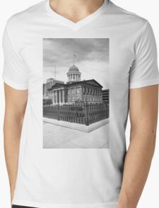 Springfield, Illinois - Old State Capitol Mens V-Neck T-Shirt