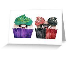Baked Bad Guys (Joker & Harley) Greeting Card