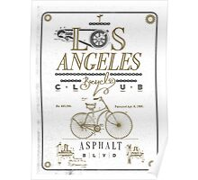 Los Angeles Bicycle Club Print - White Poster