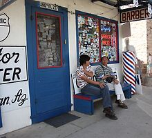 Route 66 Sightseers by Frank Romeo