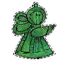 Vintage Ornaments Green Angle Photographic Print