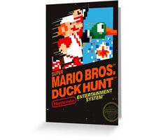 Super Mario Brothers Duck Hunt T-Shirt Greeting Card