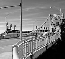 Pittsburgh - Roberto Clemente Bridge by Frank Romeo
