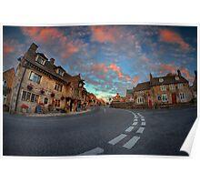 Corfe Castle Village ... Poster