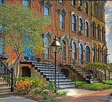 Old Brownstone Building by antonalbert1