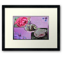 Raindrops On Roses-Collage Framed Print