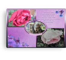 Raindrops On Roses-Collage Canvas Print