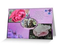 Raindrops On Roses-Collage Greeting Card