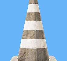 Marble Traffic Cone by Bradley John Holland