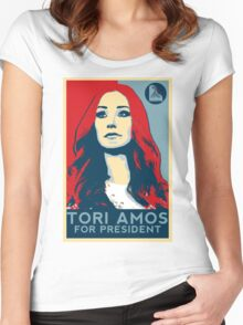 Tori For President Women's Fitted Scoop T-Shirt