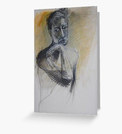male portrait Greeting Card