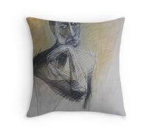 male portrait Throw Pillow
