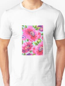 Loose watercolour peony flowers T-Shirt