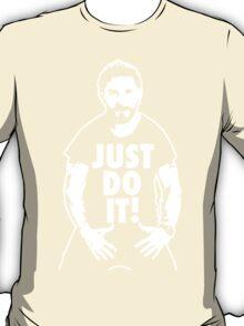 Shia Labeouf Just Do It Black  T-Shirt