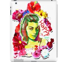 Beautiful Flower hippy girl iPad Case/Skin