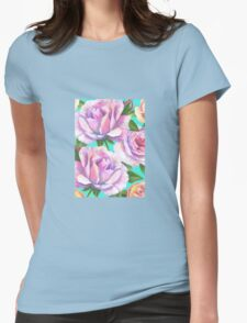 Loose watercolour rose - floral Womens Fitted T-Shirt