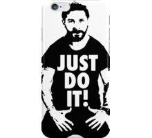 Shia Labeouf Just Do It White iPhone Case/Skin
