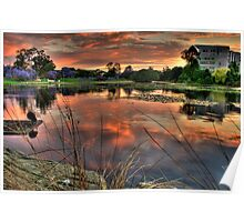 Sunset at UQ HDR Poster