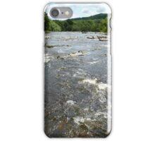 River Wharfe (View Downstream From Aysgarth Falls) iPhone Case/Skin