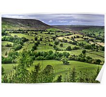 """""""Distant Views Over North Yorkshire Hills"""" Poster"""