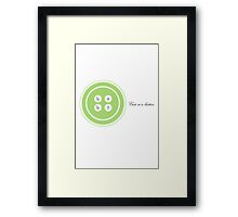 Cute as a button-lime Framed Print