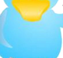 I tweet therefore I am Sticker