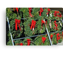 Wreath Market Canvas Print
