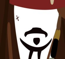 Jack Sparrow - Johnny Depp - Pirate of the caribbean Sticker