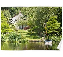 Tranquil Country House Retreat Poster