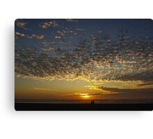 romantic sunset Canvas Print