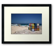 Surfing Fun at Maroubra Beach Framed Print