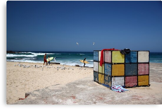 Surfing Fun at Maroubra Beach by yolanda