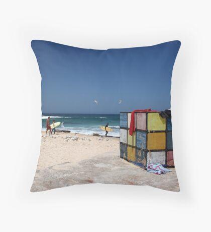 Surfing Fun at Maroubra Beach Throw Pillow