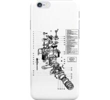 1977 Nikon SLR Camera exploded drawing. iPhone Case/Skin