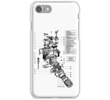 1977 Nikon SLR Camera exploded drawing. iPhone Case/Skin