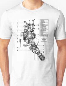 1977 Nikon SLR Camera exploded drawing. T-Shirt