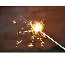 Celebrate With a Sparkler! Photographic Print