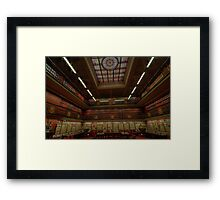 Old Style Elegance - The Reading Room , NSW Parliament House , Sydney Australia - The HDR Experience Framed Print