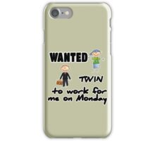 wanted twin ... - boys iPhone Case/Skin
