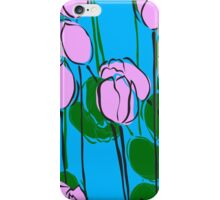 Pink Tulips Watercolor Abstract iPhone Case/Skin
