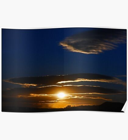 Mojave Sunset Tres Poster